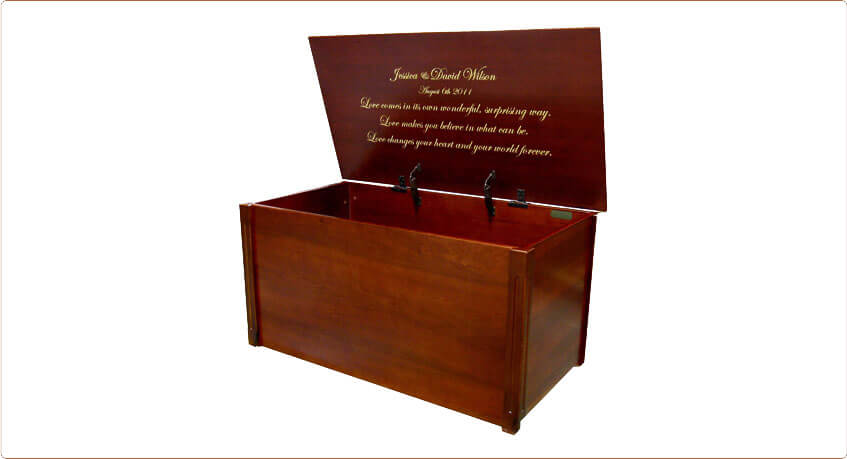 Wooden Wedding Keepsake Box and Memory Chest