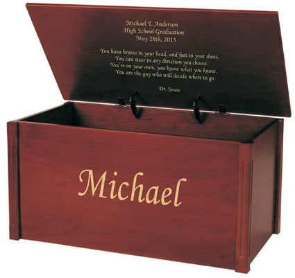 Celebrate Life's Accomplishments With A Monogrammed Memory Chest From MemoryChests.com