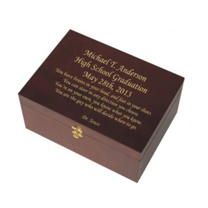 Small Wooden Memory Chest cherry