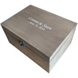 Small Wooden Memory Chest gray