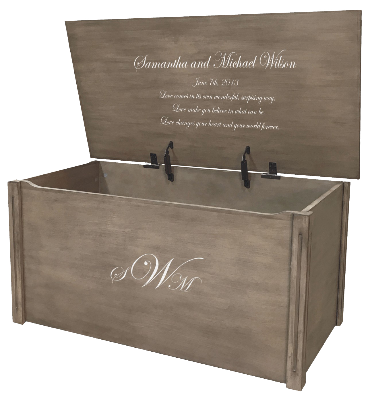 Wedding keepsake box and memory chest