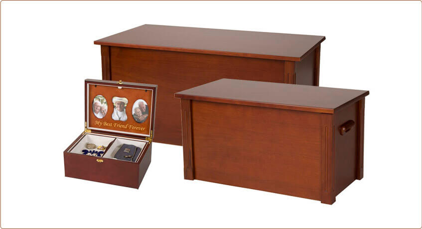 Wooden Cherry Chest and Memory Box