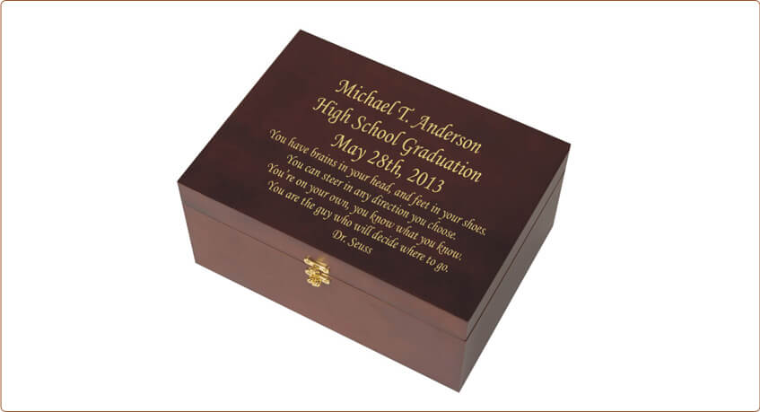 Custom Engraved Graduation Memory Chest