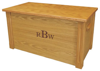 Medium wooden memory chest and box